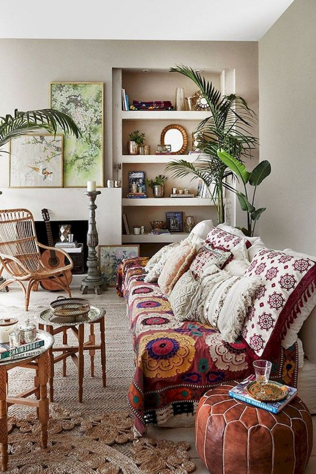 Minimalist Bohemian Fall Living Room Decoration Smart