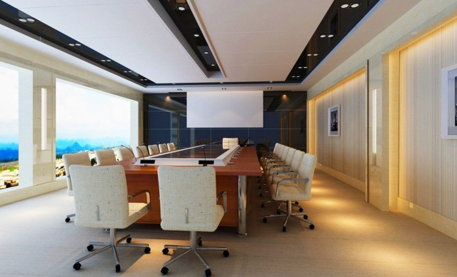Modern Conference Table White Home Office And