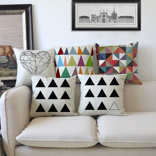 Modern Geometric Cushion Colorful Decorative Throw Pillows