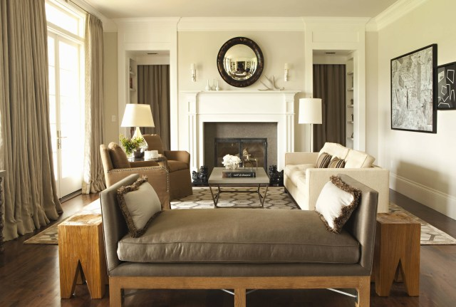Modern Ideas Beige Lounge Traditional Family Room Design