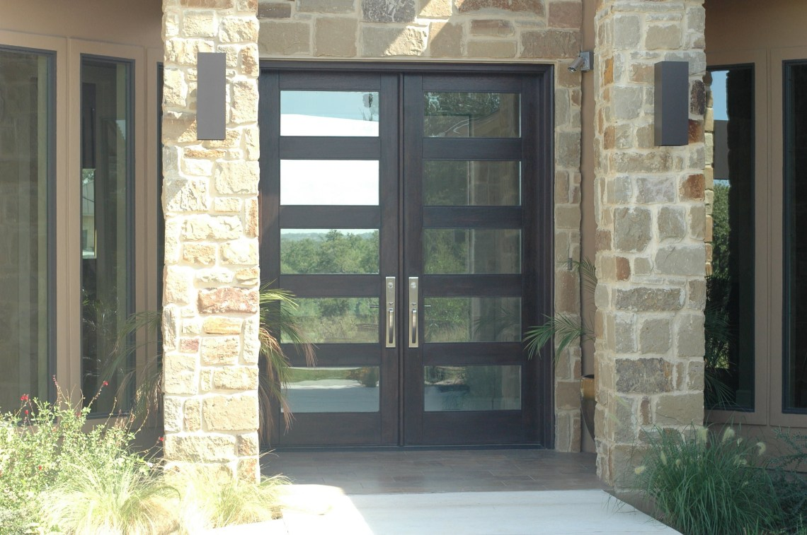 Modern Wood Door 8ft Rubi Double Entry Door Double