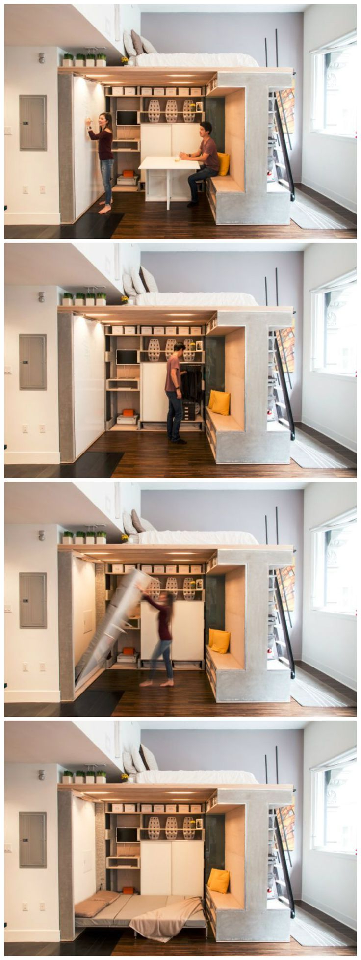 Multi Functional Loft Transforms A Small Condo Into A