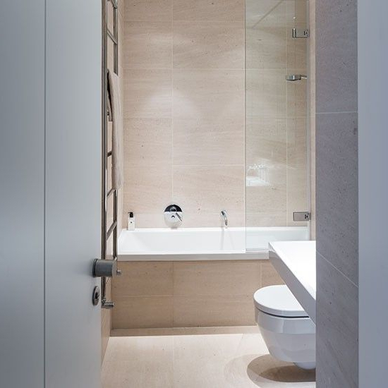 Neutral Bathroom With Large Format Tiles Neutral Bathroom Large Format Tile Modern Bathrooms