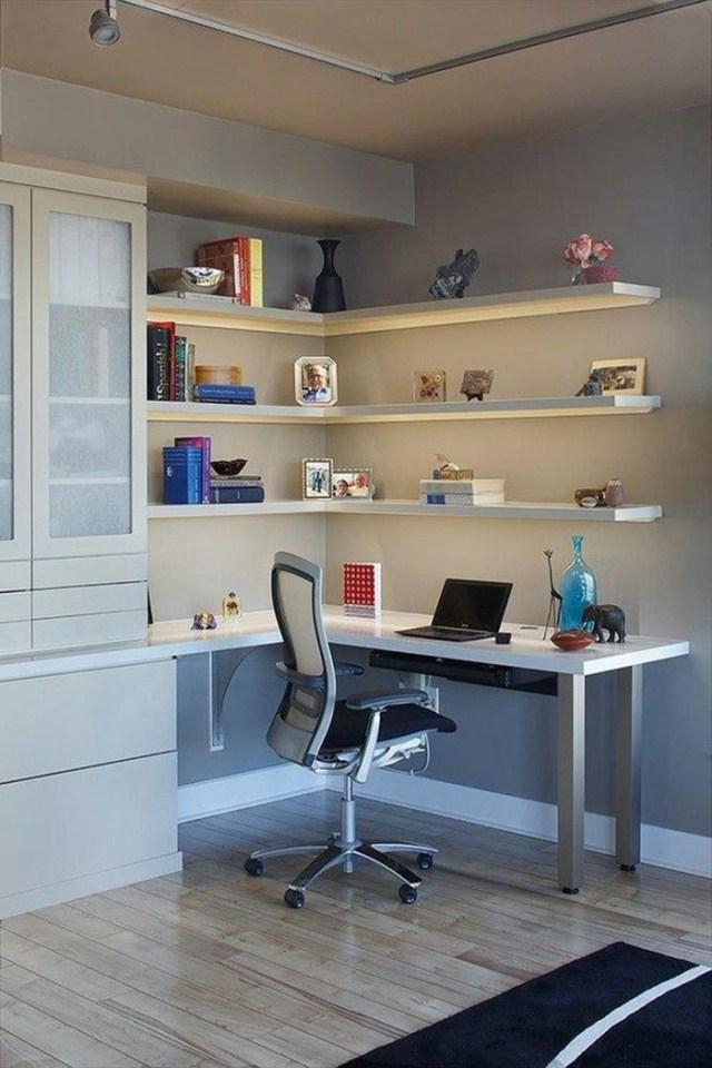 Office Furniture Home Office Corner Desk Wall Shelf