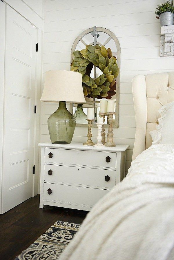 One Horn White Nightstand Makeover Bedroom Night Stands