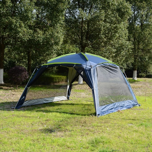 Outsunny 12x12x7 5 8 Persons Portable Outdoor Camping Tent Waterproof Shelter Hiking Pop Up