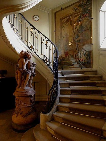 Paris 75008 Muse Nissim De Camondo Escalier Desservant