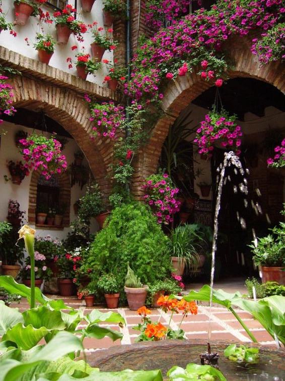 Patio In Barrio De Miraflores Cordoba Spain Unesco World