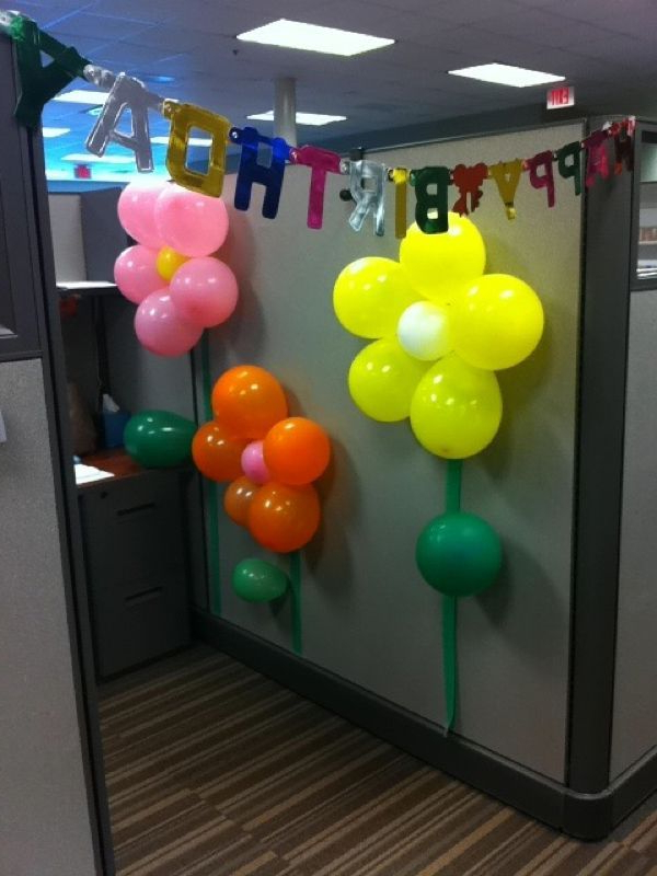 Picture With Images Office Birthday Decorations