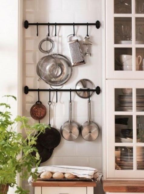 Pin Jodi On Farmhouse Glam Kitchen Wall Storage