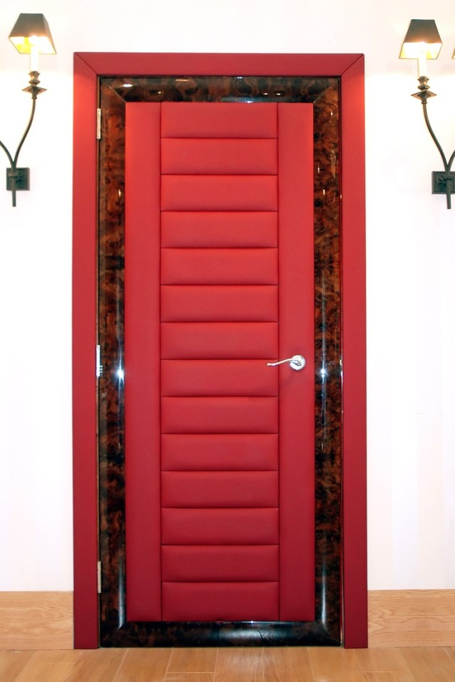 Red Doors Bespoke Internal Leather Doors From Solid