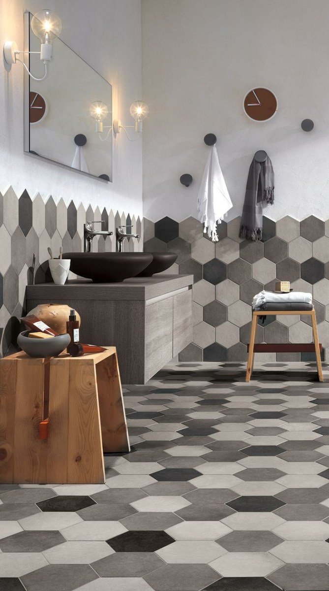 Rewind Hexagonal Tiles Luxury Bathroom Master Baths