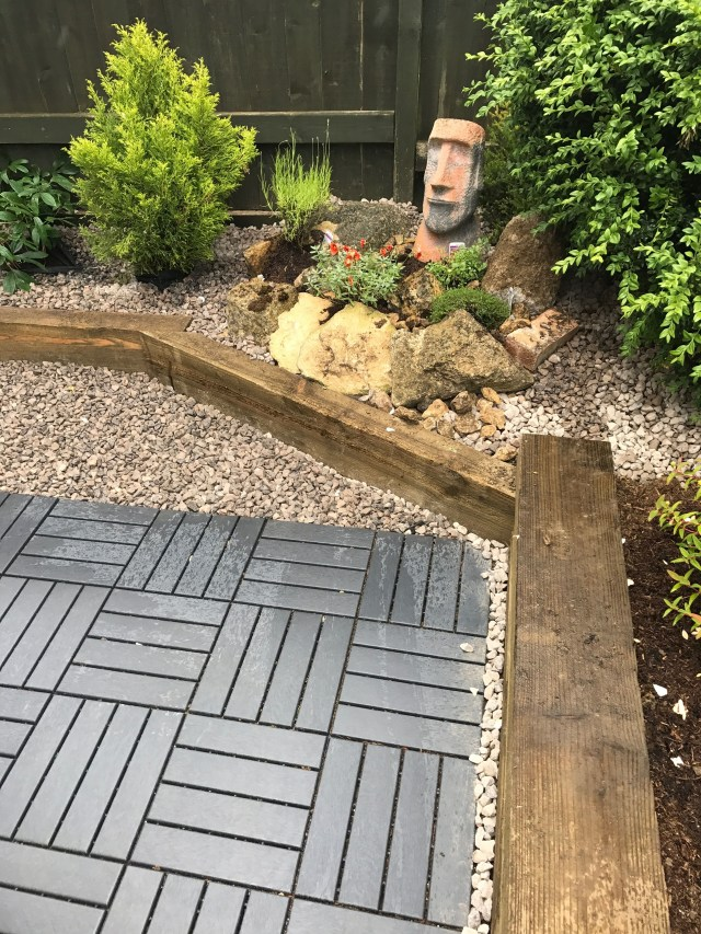 Rockery In Our Small Garden Using Ikea Runnen Decking And