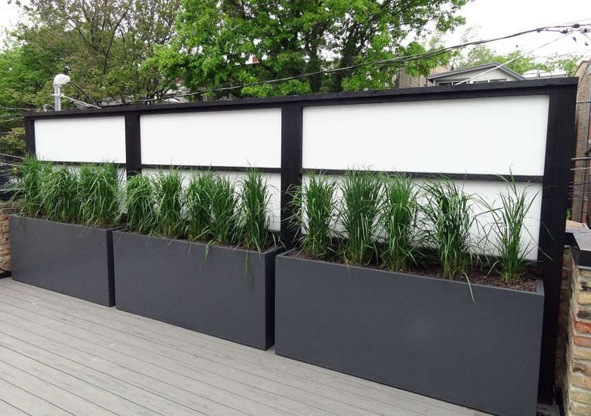 Roof Deck Screening Planters Containers Grasses