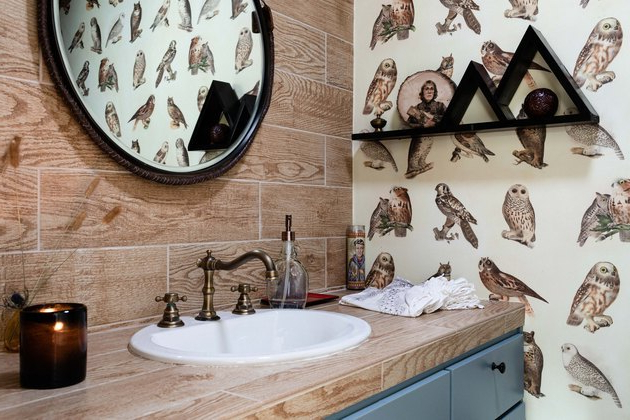 Rustic Bathroom Backsplash Ideas And Inspiration Hunker