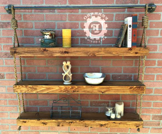 Rustic Shelf Industrial Shelf Wall Shelf Rustic Decor