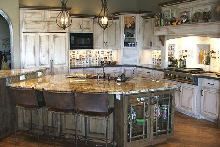 Rustic White Washed Kitchen For The Home Simple