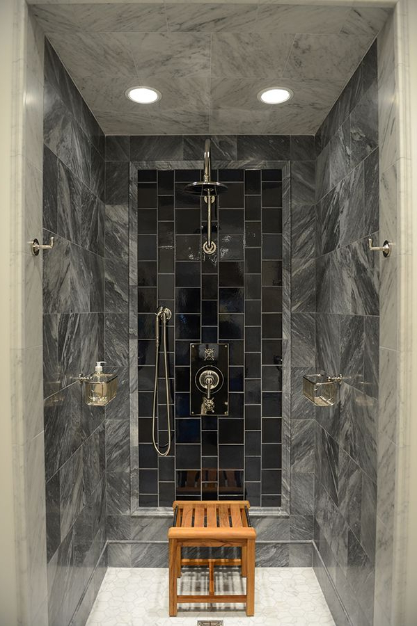 Shower Love The Mix Of Stonetiles With The Shower
