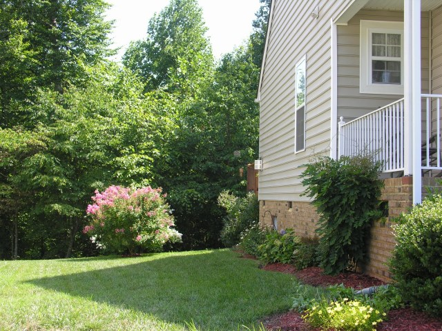 Side Of House Landscaping Ideas Black Mulch Small Yard Low