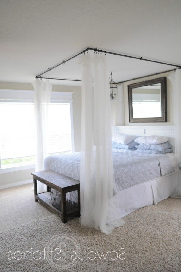 Simple Diy Bed Canopy Round Up Ideas Country Cottage