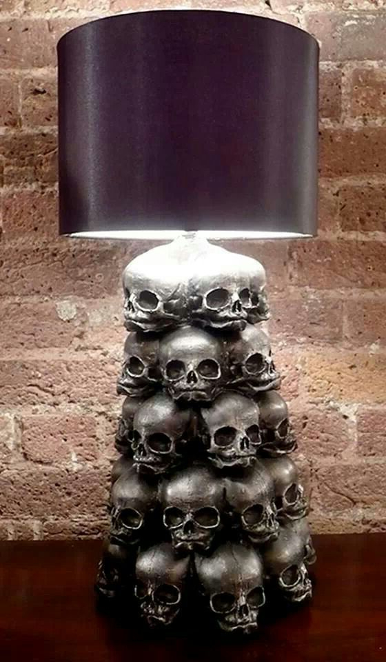 Skull Lamp Bedroom Decor Horror Decor Home Decor