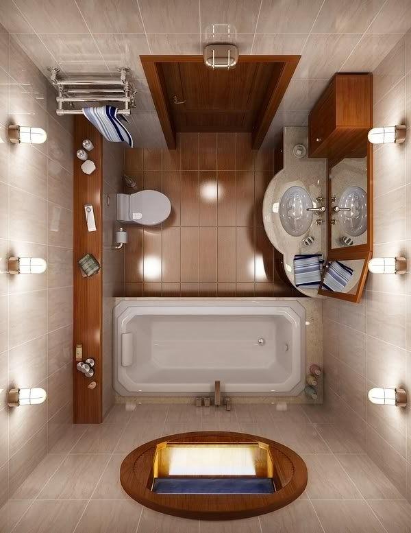 Small Bathroom Design Ideas Bath Tub Toilet Storage Space