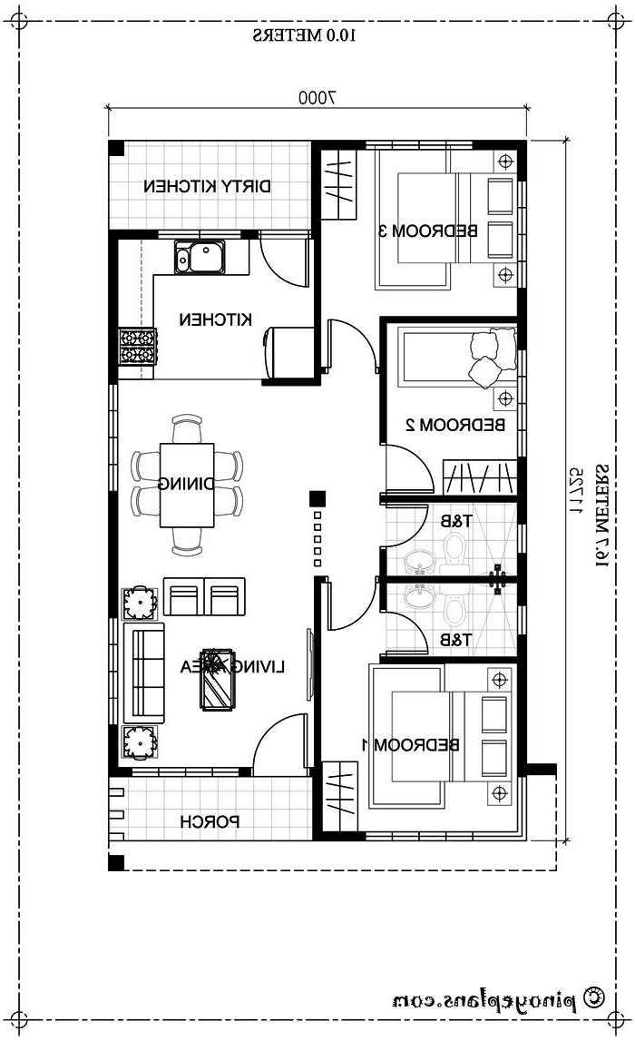 Small Bungalow Home Blueprints And Floor Plans With 3