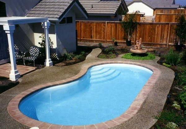 Small Kidney Shaped Swimming Pool Designs For Small