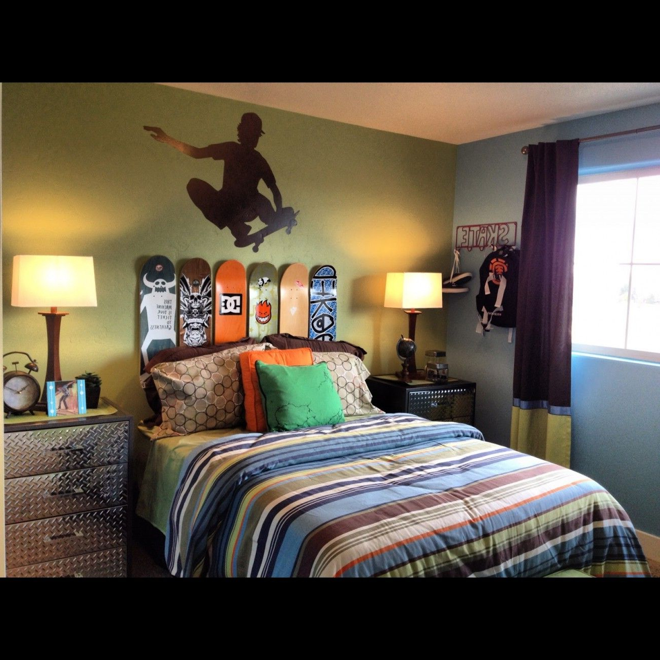Some Uniqueness Of Skateboard Bedroom Decor For Kids