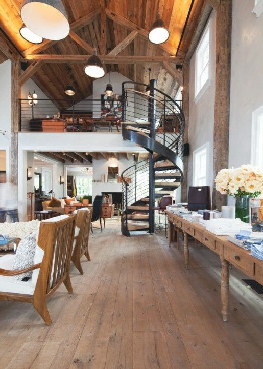 Spiral Stairs Loft And Ceiling With Images Home