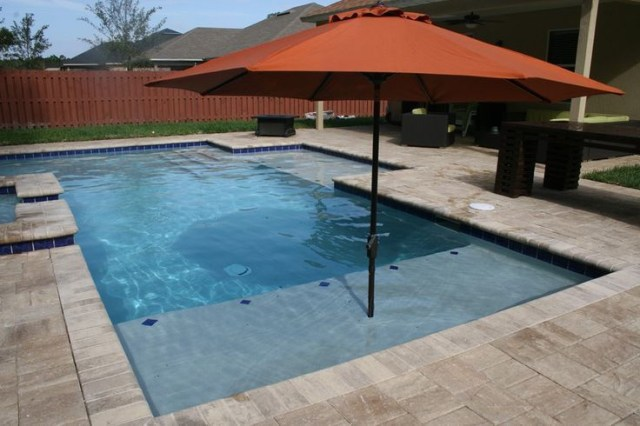 Sun Shelf And Umbrella Holder Orange Park Pool Pool