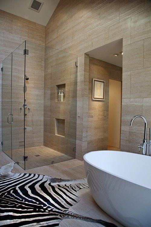 Tall Ceilings Modern Bathshower Lose The Dead Zebra Luxury Bathroom House Bathroom
