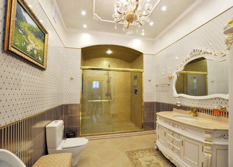 Ten Elegant Gold Bathroom Ideas To Be Amazed Decohoms