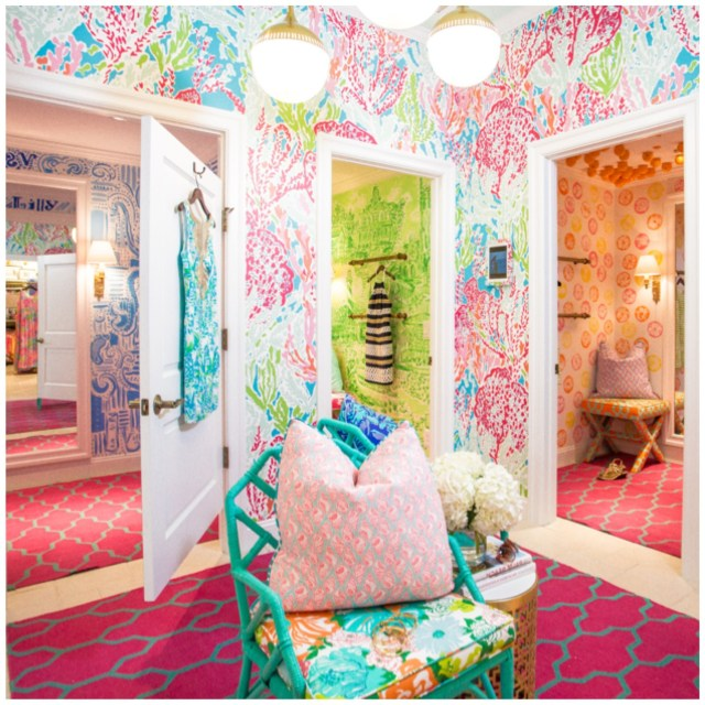 The Lilly Pulitzer Dressing Room I Was In A Couple Weeks