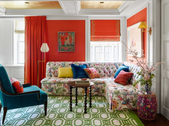 This Stylish Trick Will Make Your Living Room Feel Way Bigger Than It Is In 2020 Turquoise