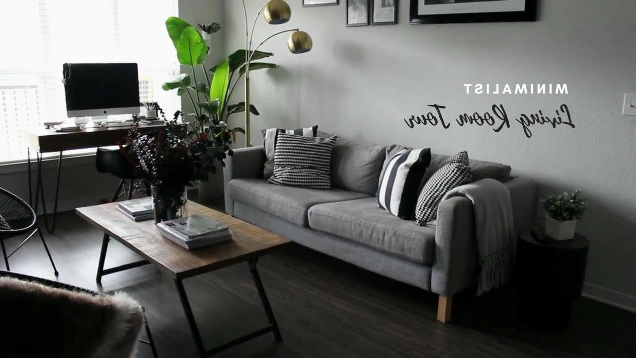 Tiny Minimalist Apartment Living Room Tour Youtube