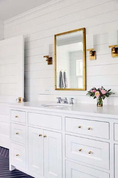 Top 50 Best Shiplap Bathroom Ideas Nautical Inspired