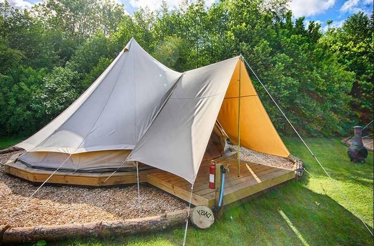 Transparent Big Outdoor Glamping Hotel Geodesic Dome Tent