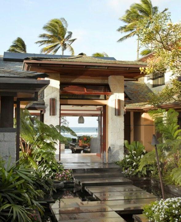 Tropical Modern Lanai Modern Tropical House Tropical
