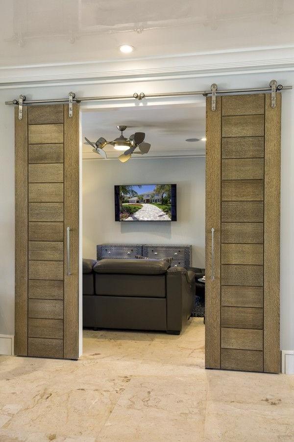 Trustile Barn Doors Tm13000 In White Oak With A Cerused