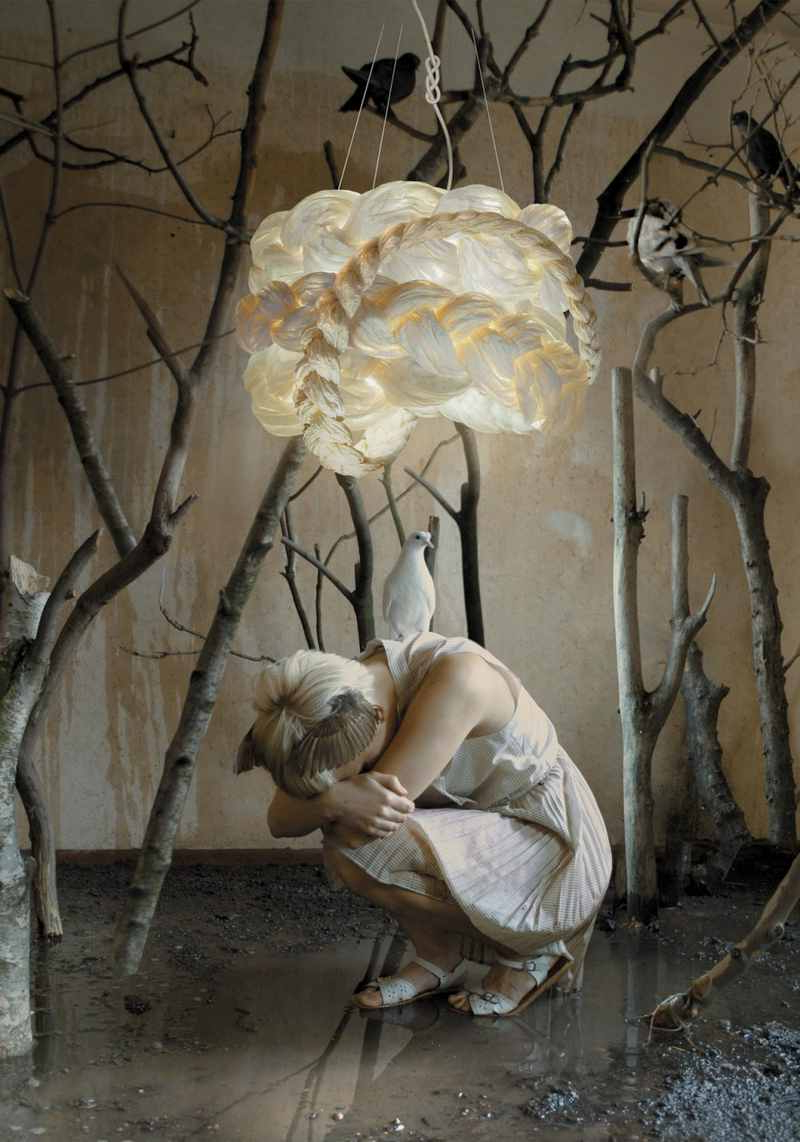 Unusual Lamp With Woven Paper Shades The Bride The