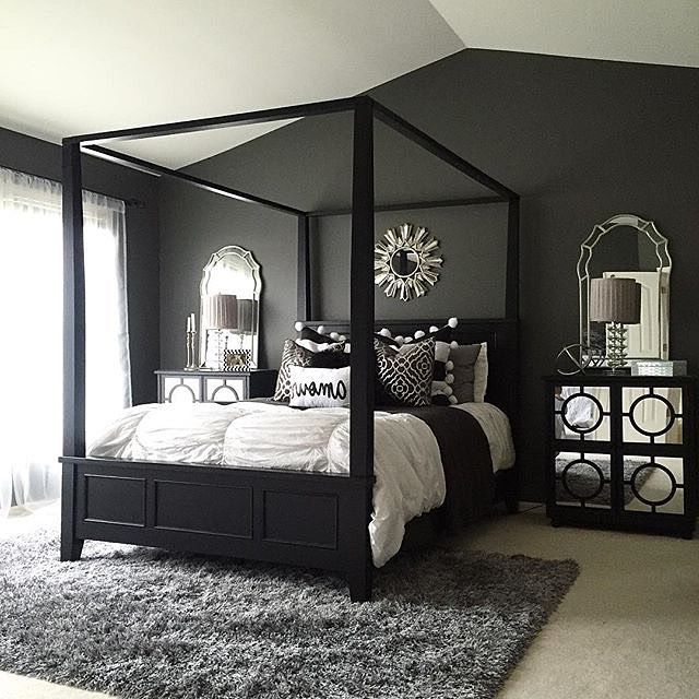 Use Dramatic Dark Hues In The Master Bedroom For A Cozy