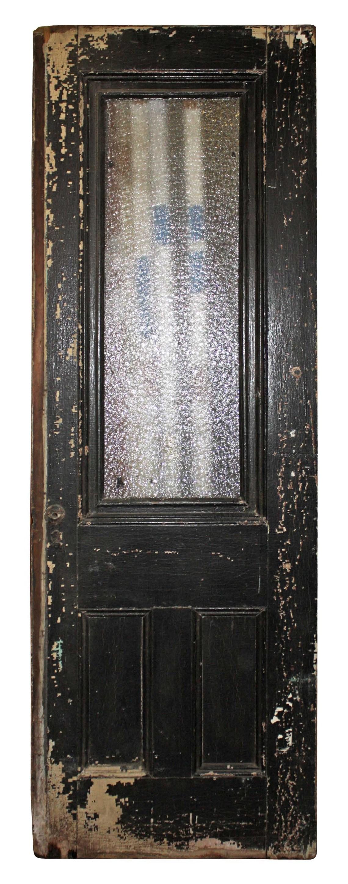 Vintage Door With Single Glass Pane Perfect Pantry Door