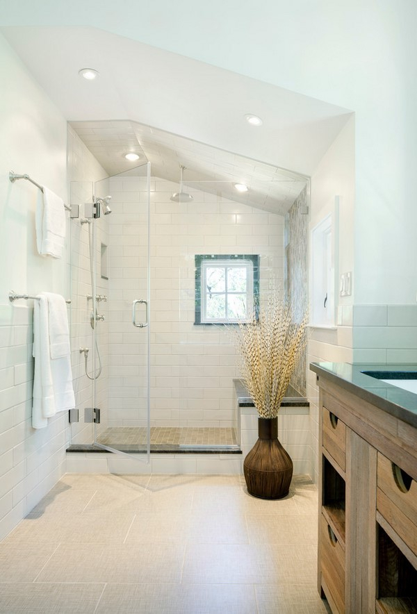 Walk In Shower Designs Unique Modern Bathroom Interiors