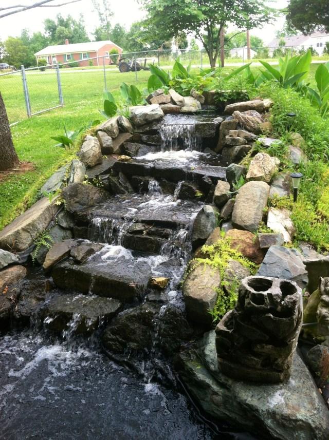 Water Garden Waterfall Waterfalls Backyard Water
