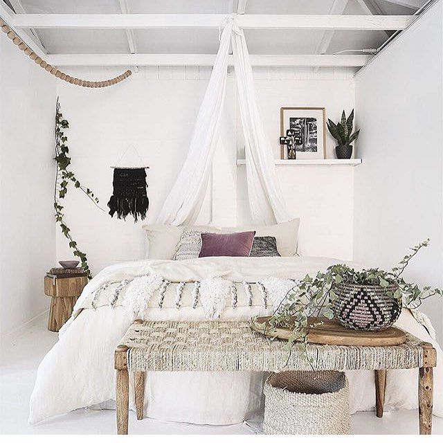 White Bohemian Bedroom Chic Bedroom Minimalist