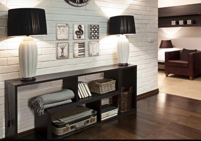 White Brick Wall Texture Interior Background Design Ideas
