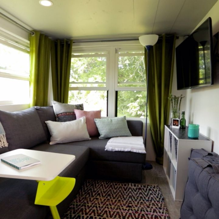 Who Says You Cant Fit A Sectional Couch In A Tinyhouse