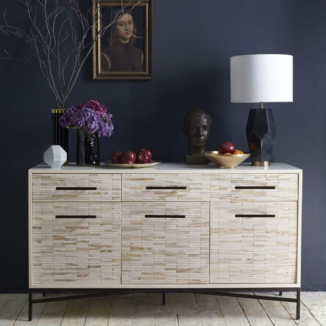 Wood Tiled Sideboard Furniture Wood Dining Bench