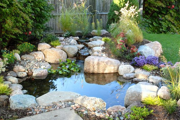 Yard Ponds Small Front Garden Water Fountain Ideas Easy